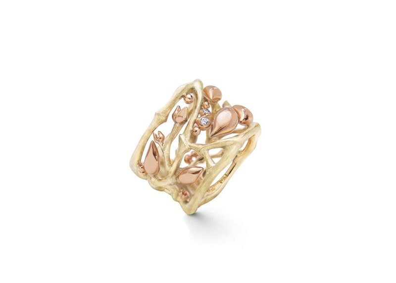 Golden Forest Ring