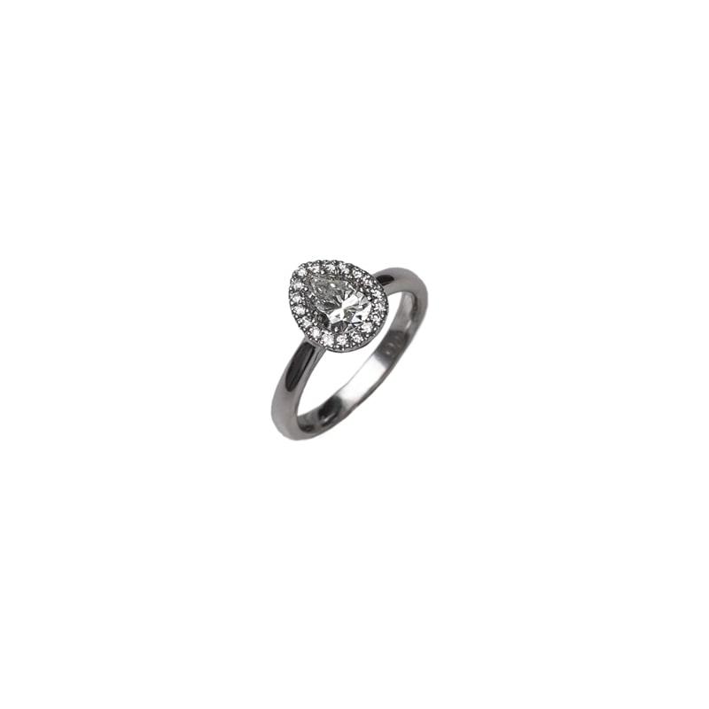 Witgouden ring met diamanten