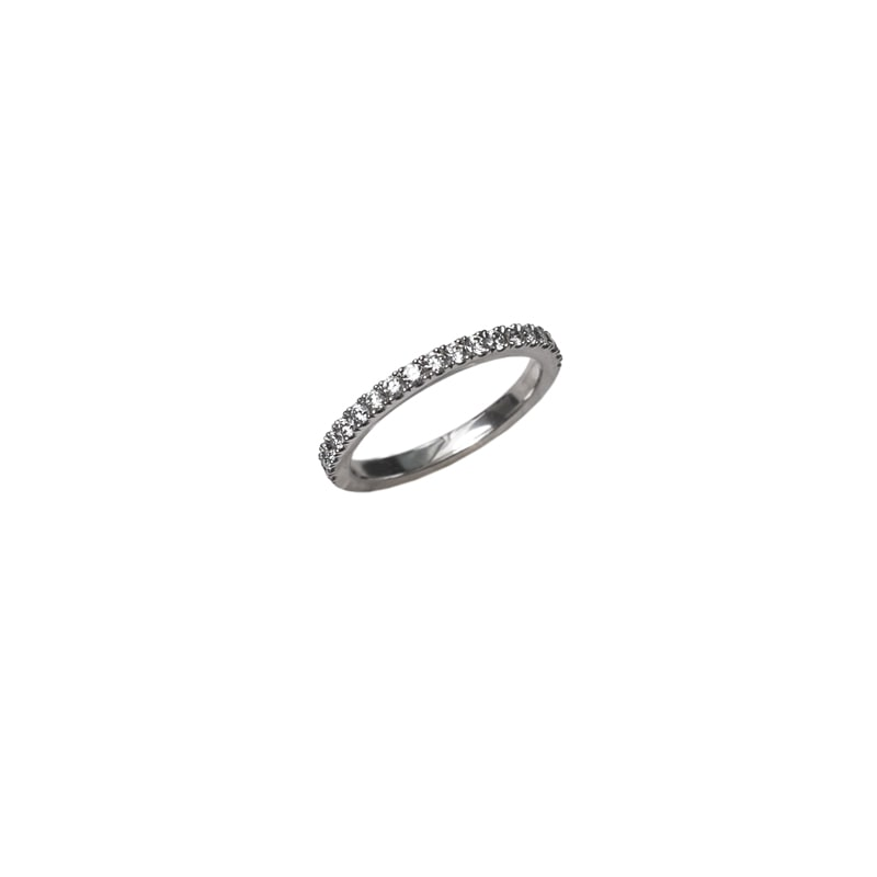 Platina ring met diamanten